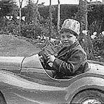 Barrie in his Austin Pedal Car