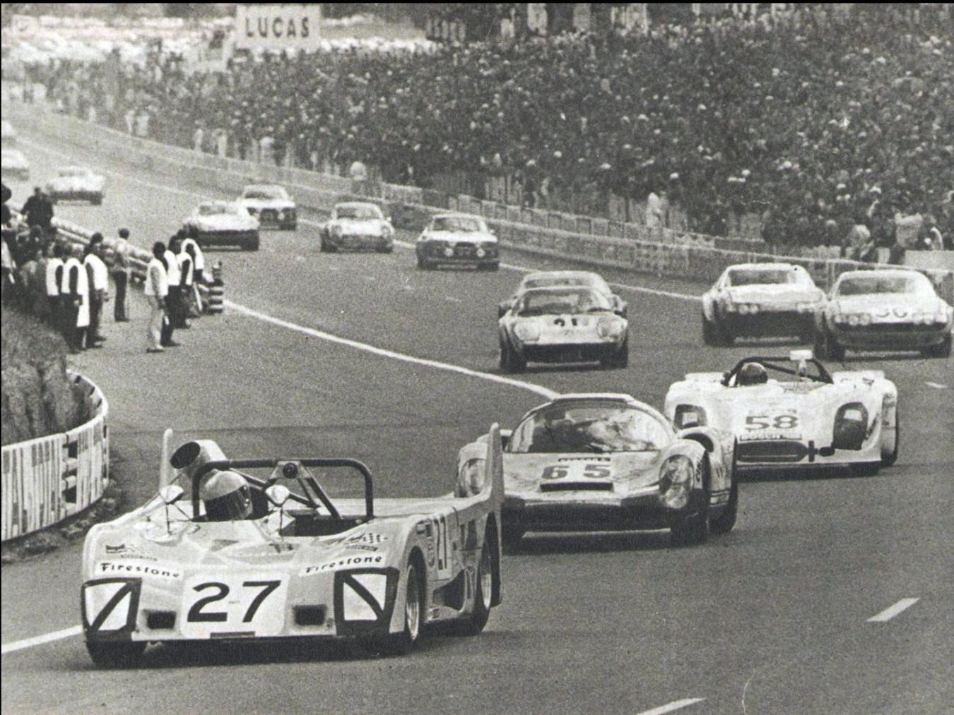 Lola leading Porsche